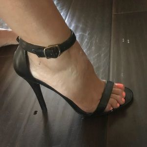 Two strap barely there heels